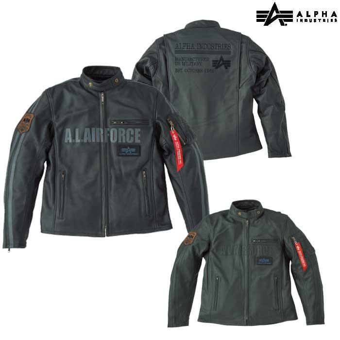 ALPHA ALVL-1701R シングルライダース レザーJAC R
