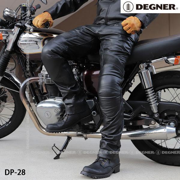 DEGNER DP-28 メンズカップ付レザーパンツ/MEN'S LEATHER PANTS WITH CUP(ブラック)
