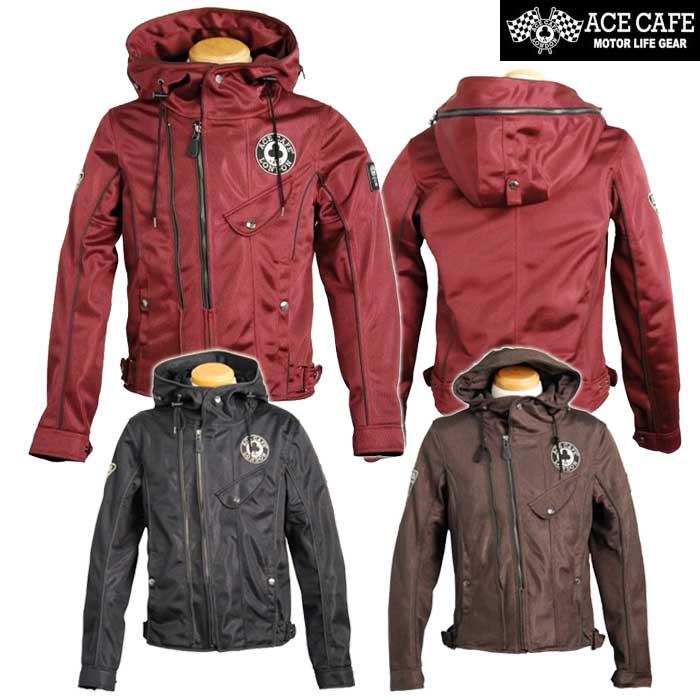 ACE CAFE LONDON 〔WEB価格〕SS1901M メッシュ W2 フーデットジャケット