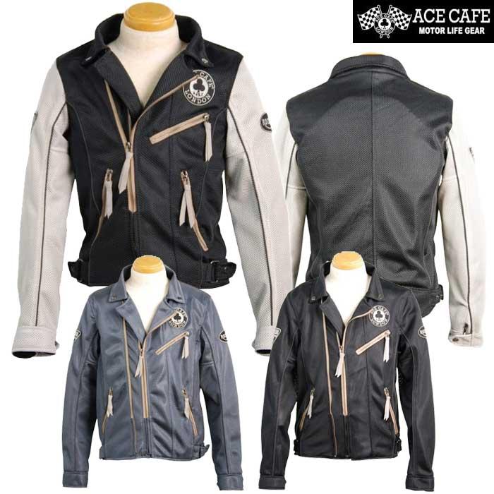 ACE CAFE LONDON 〔WEB価格〕SS1902MJ メッシュWライダースジャケット