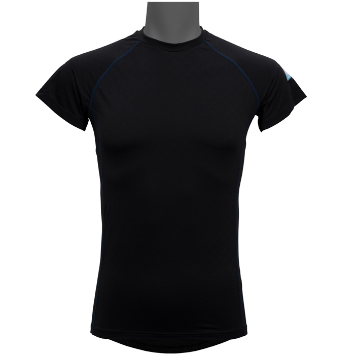 リベルタ 氷撃 FREEZE TECH 冷却インナーシャツ 半袖 クルーネックインナー 春夏用 ブラック