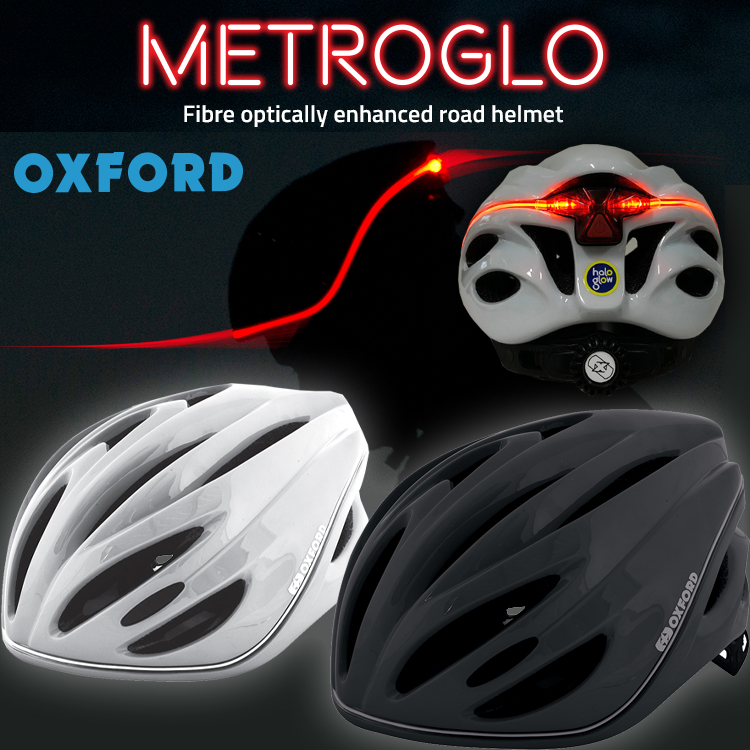 OXFORD MGO METRO-GLO 【メトロ-グロー】自転車用ヘルメット 業界初!360度LED発光/夜間安心