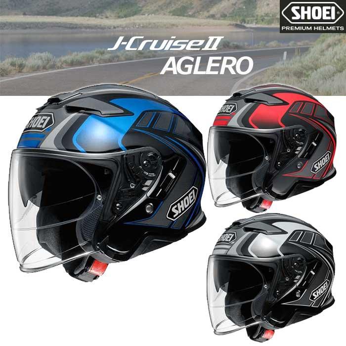 SHOEI ヘルメット 【8月発売予定】J-CRUISE 2 AGLERO[ジェイ-クルーズ ツー アグレロ] ジェットヘルメット