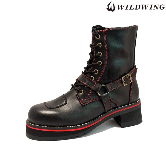 WIN GLOVE WWM-0001ATU  ライディングブーツ 厚底ファルコン (フラッグシップモデル) ブラック/レッド  ◆全3色◆