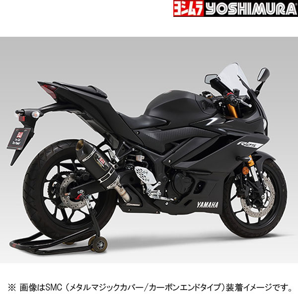 YOSHIMURA JAPAN Slip-On R-77S サイクロン カーボンエンド EXPORT SPEC 政府認証(ヒートガード付属) YZF-R3/MT-03(2BL-RH13J)他