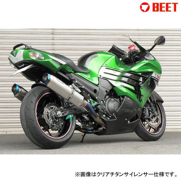 BEET JAPAN NASSERT Evolution Type II T-2 マフラー 政府認証 Ninja ZX-14R(2012~2015) 型式[ZXT40E,ZXT40F]