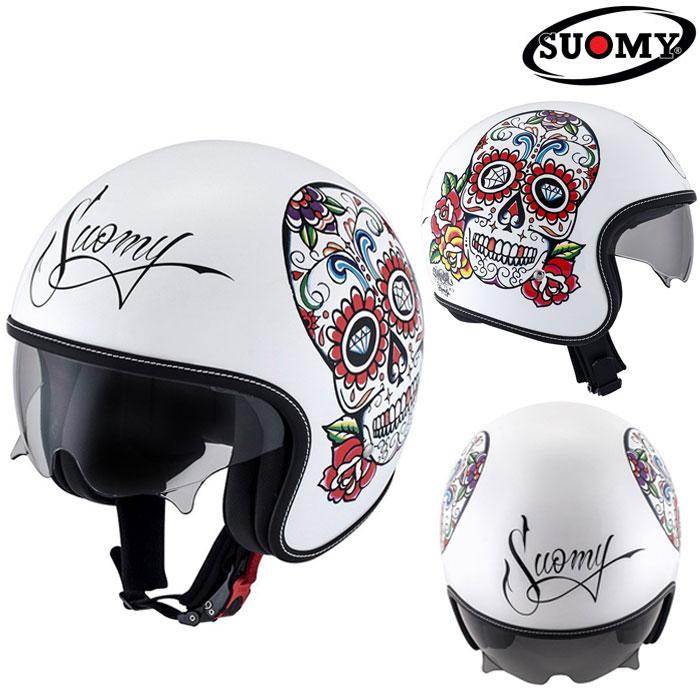 スオーミー 〔WEB価格〕SRK0005 ROKK CALAVERA WC 【ロック カラベラWC】ジェットヘルメット
