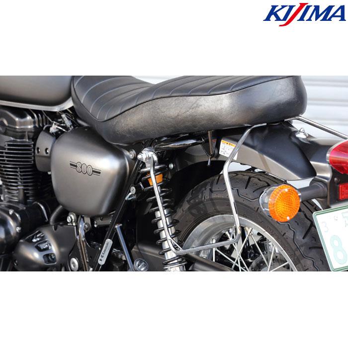 KIJIMA 〔WEB価格〕210-4981 バッグサポート クロームメッキ W800(ストリート/カフェ)/650/400 左側用