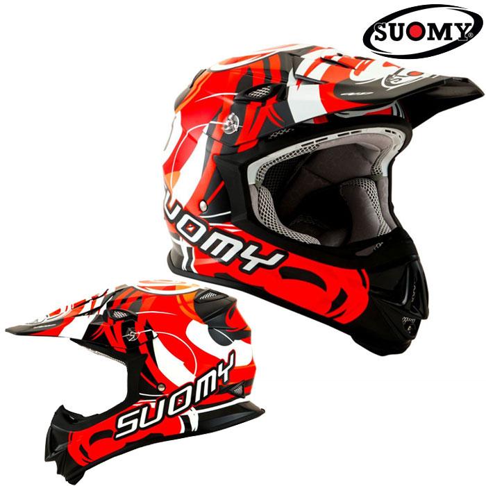 スオーミー 〔WEB価格〕SMJ0040 MR.JUMP VORTEX RED 【ヴォルテックス】オフロードヘルメット