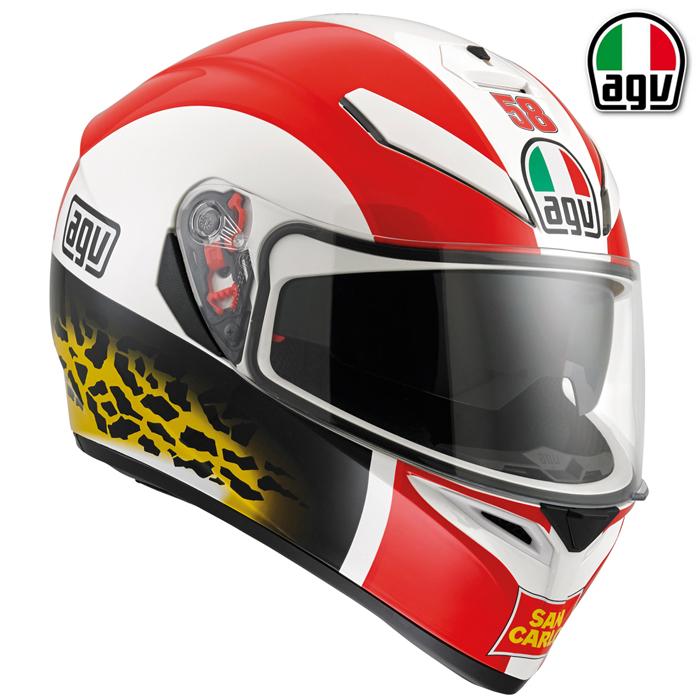 AGV 【通販限定】『アウトレット品』K-3 SV SIMONCELLI[シモンチェリ] レプリカ フルフルフェイス ヘルメット