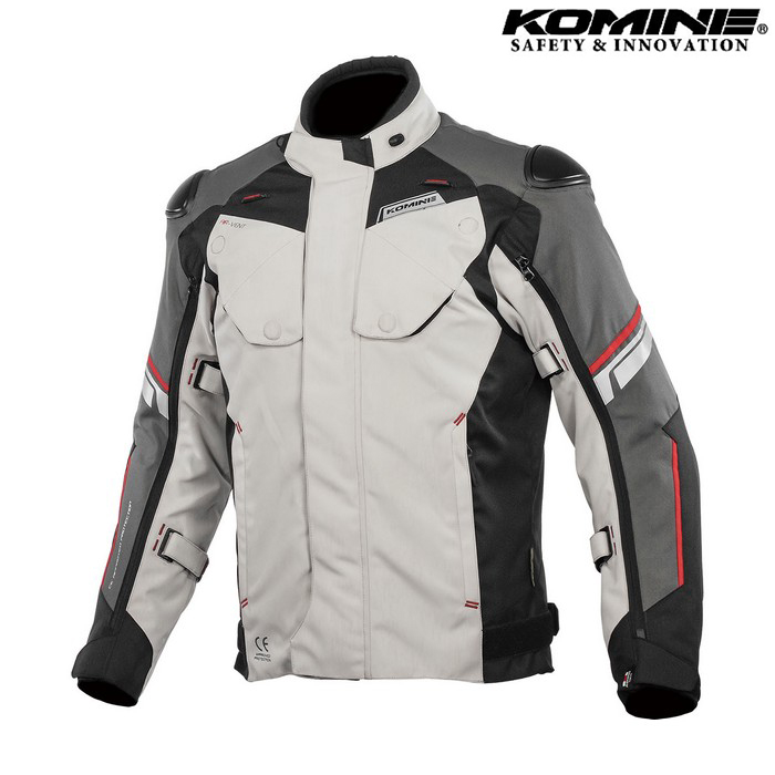 komine JK-598 Protect Full Year JKT プロテクトフルイヤージャケット ライトグレー/ブラック ◆全3色◆