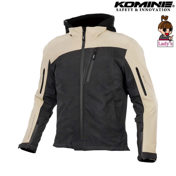 komine レディース JK-590 プロテクトソフトシェルウインターパーカ ジャケット ブラックカモ/ベージュ ◆全8色◆