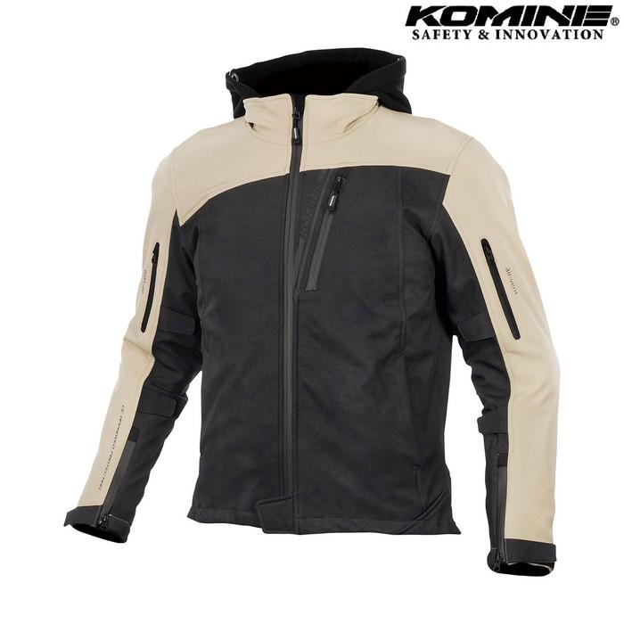 komine JK-590 プロテクトソフトシェルウインターパーカ ジャケット ブラックカモ/ベージュ ◆全8色◆