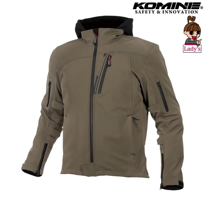 komine レディース JK-590 プロテクトソフトシェルウインターパーカ ジャケット ディープオリーブ ◆全8色◆