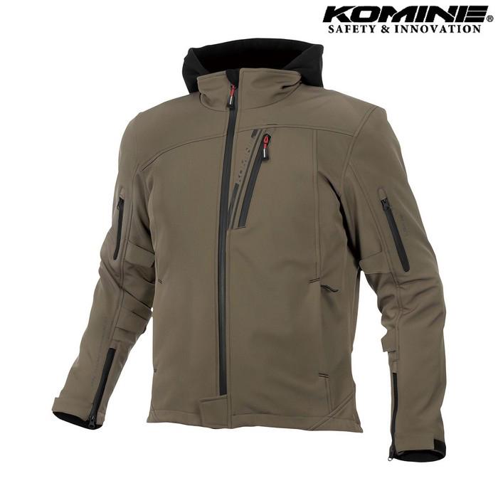 komine JK-590 プロテクトソフトシェルウインターパーカ ジャケット ディープオリーブ ◆全8色◆