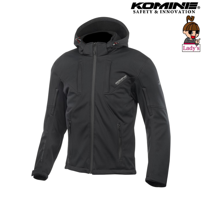 komine (レディース)JK-602 プロテクト ソフトシェルシステムパーカー ジャケット ブラック ◆全4色◆