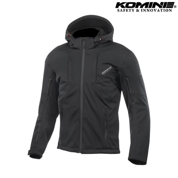komine JK-602 プロテクト ソフトシェルシステムパーカー ジャケット ブラック
