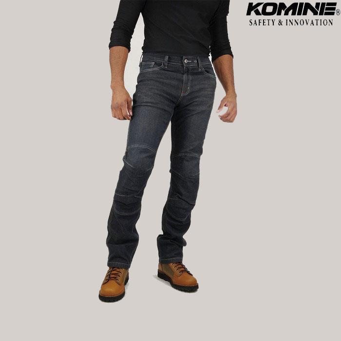 komine (大きいサイズ)WJ-924R ストレッチプロテクトウォームジーンズ ディープインディゴ◆全2色◆