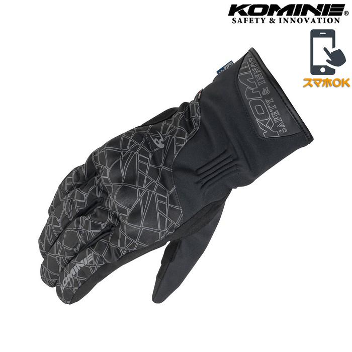 komine GK-830 AIR GEL ウィンターグローブ クラッシュブラック◆全3色◆