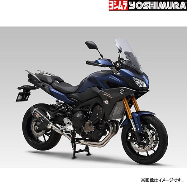 YOSHIMURA JAPAN 〔WEB価格〕【お取り寄せ】機械曲 R-77S サイクロン カーボンエンド EXPORT SPEC 政府認証 MT-09(2014-19)、XSR900(2016-19)、TRACER900/GT(2018-19)他〔決済区分:代引き不可〕