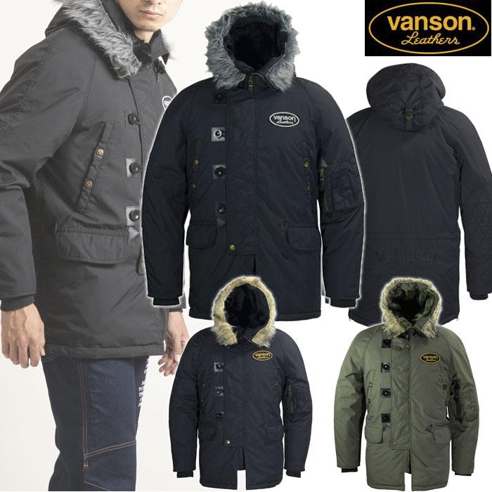 VANSON 〔WEB価格〕VS19109W ナイロンジャケット 防寒 防風