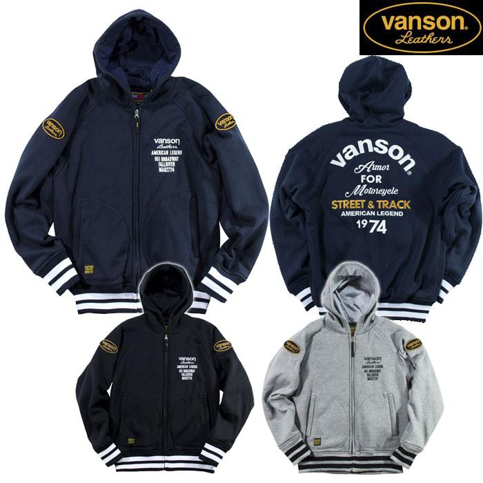 VANSON 〔WEB価格〕VS19402W スウェットパーカー ジャケット  防寒 防風
