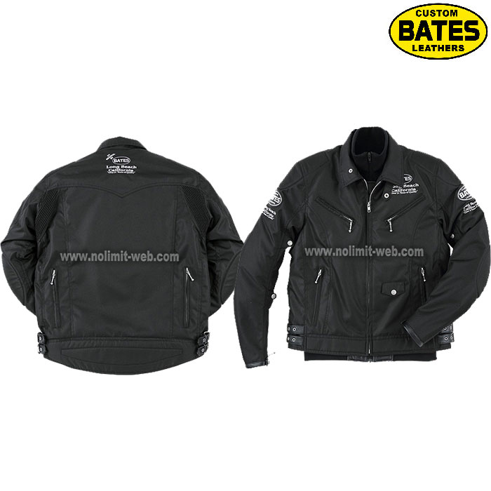 BATES 〔WEB価格〕BSP-5 BATES ロングシーズン ナイロン&レザージャケット