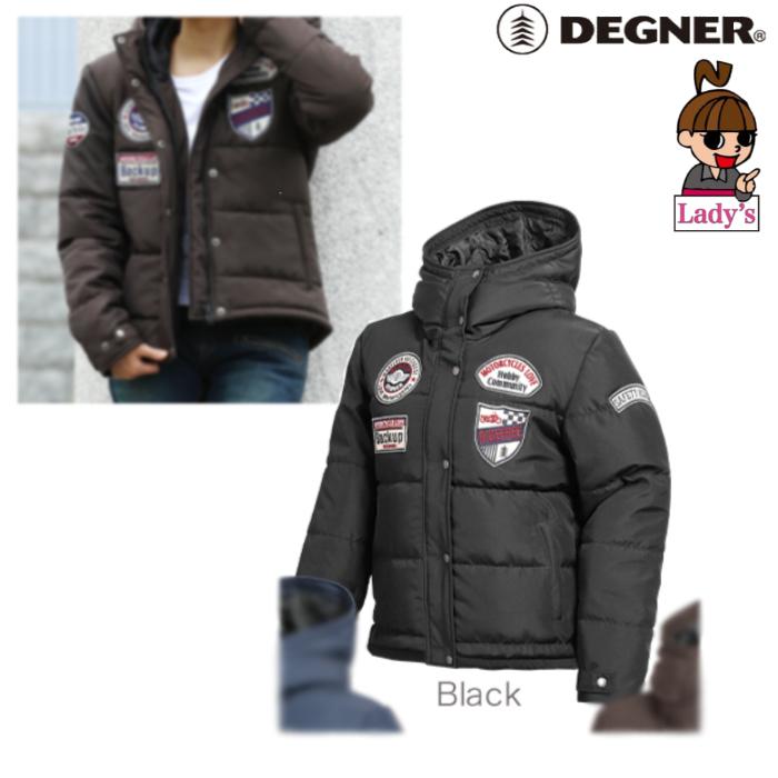 DEGNER FR19WJ-23 レディース綿入フードジャケット ブラック◆全3色◆