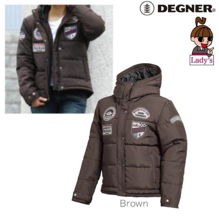 DEGNER FR19WJ-23 レディース綿入フードジャケット ブラウン◆全3色◆