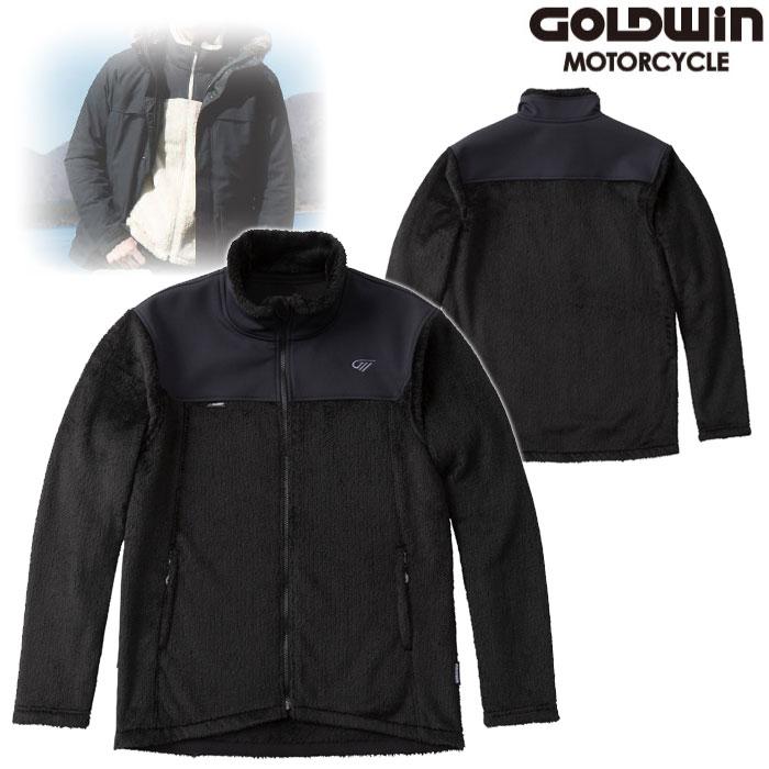 GOLDWIN GSM24951 ハイブリッド フリースジャケット ブラック(K)◆全3色◆