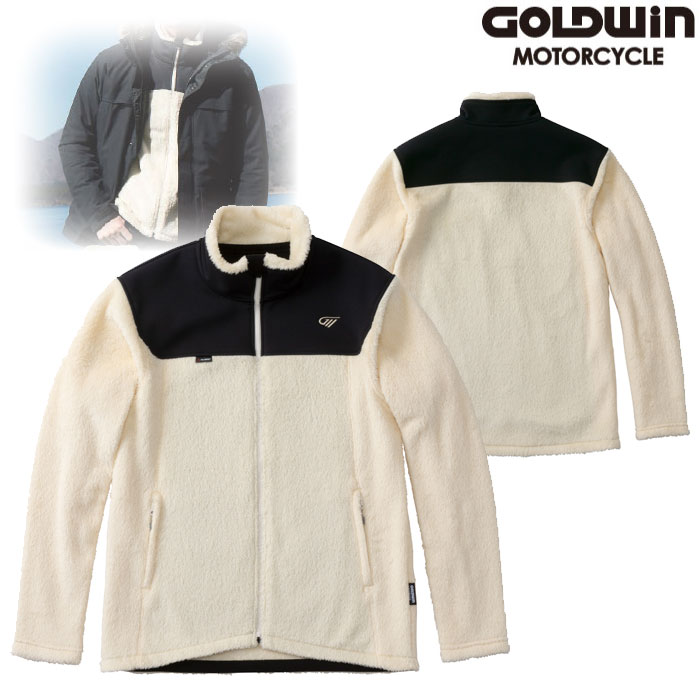 GOLDWIN GSM24951 ハイブリッド フリースジャケット オフホワイト(OW)◆全3色◆