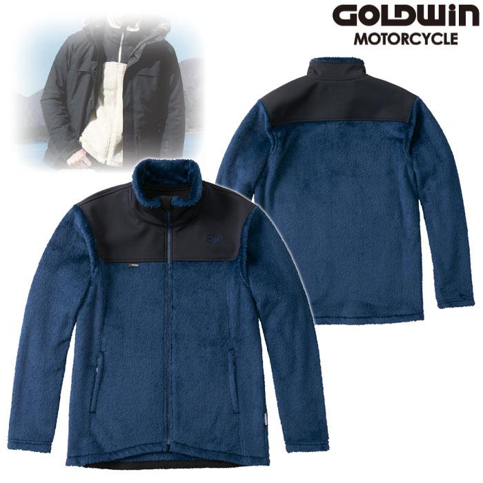 GOLDWIN GSM24951 ハイブリッド フリースジャケット ネービー(N)◆全3色◆