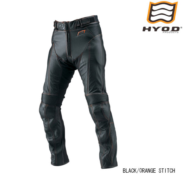 HYOD PRODUCTS HSP004DN ST-X D3O  LEATHER PANTS (BOOTS-OUT) レザーパンツ BLACK/ORANGE STITCH◆全2色◆