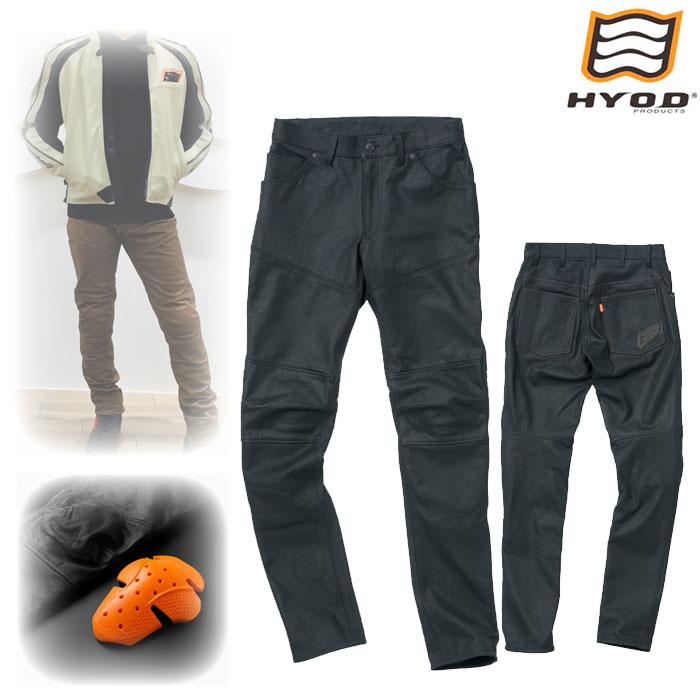 HYOD PRODUCTS SMP007 SMART LEATHER D3O BIKERS PANTS BLACK◆全2色◆