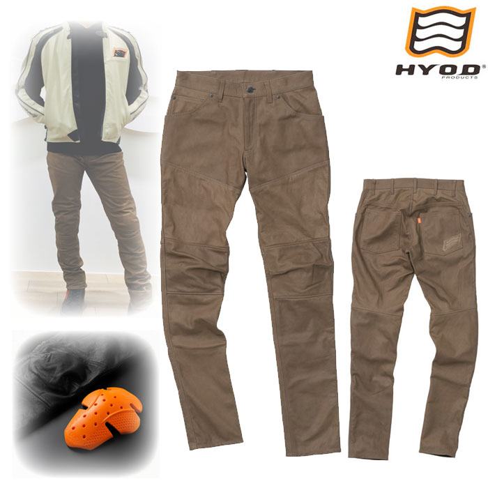HYOD PRODUCTS SMP007 SMART LEATHER D3O BIKERS PANTS OLIVE◆全2色◆