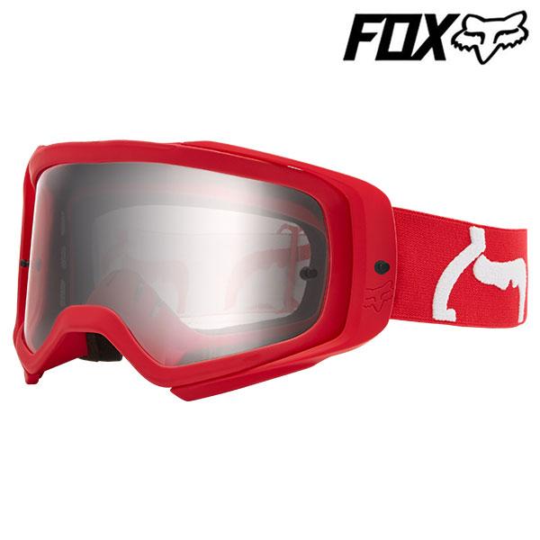 FOX RACING エアスペース2ゴーグル プリ フレイムレッド