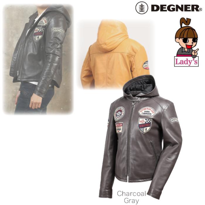 DEGNER (レディース)FR19WJ-20 レザージャケット チャコールグレー◆全2色◆