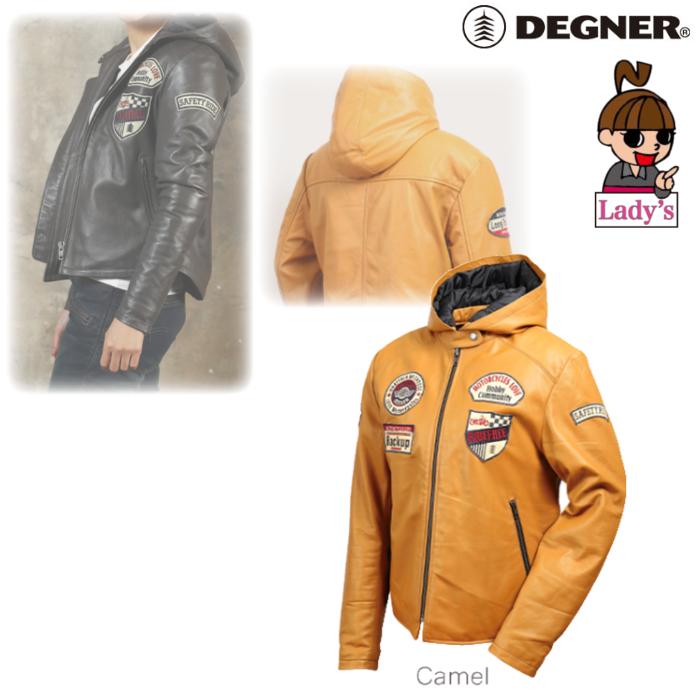 DEGNER (レディース)FR19WJ-20 レザージャケット キャメル◆全2色◆