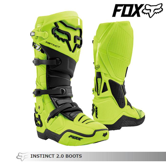 FOX RACING 〔WEB価格〕INSTINCT【インスティンクト】2.0 ブーツ    フローイエロー