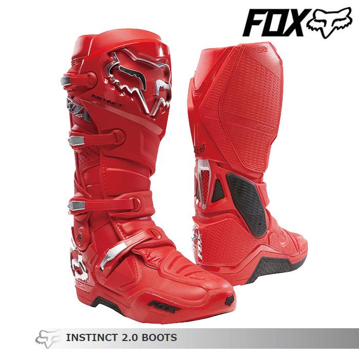 FOX RACING 〔WEB価格〕INSTINCT【インスティンクト】2.0 ブーツ  フレイムレッド