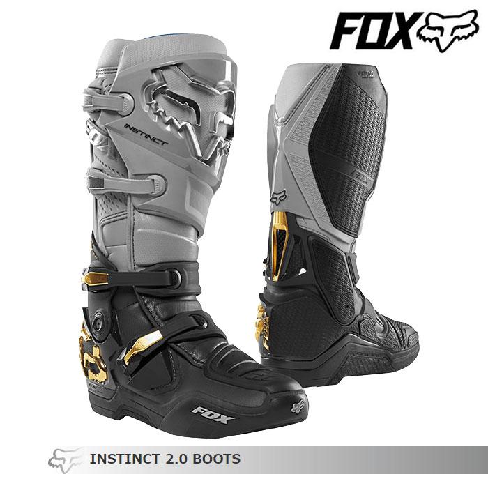 FOX RACING 〔WEB価格〕INSTINCT【インスティンクト】2.0 ブーツ   グレー/ブラック