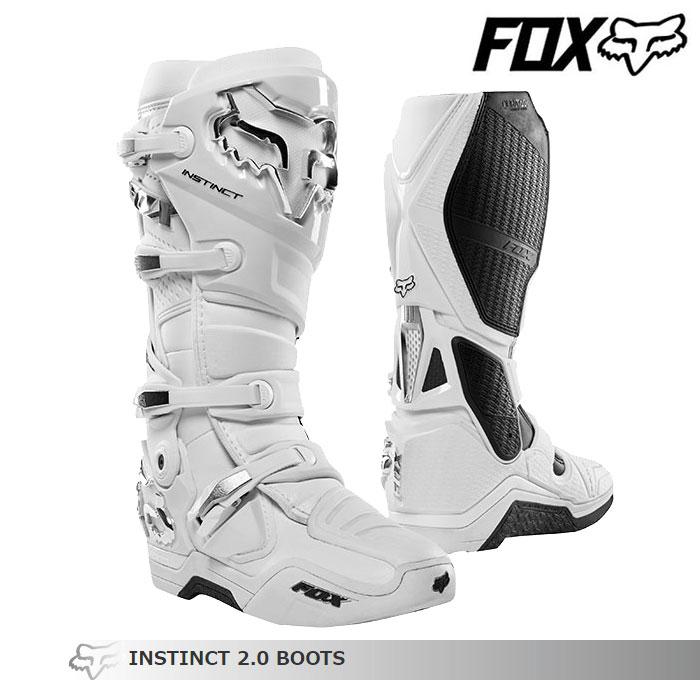 FOX RACING 〔WEB価格〕INSTINCT【インスティンクト】2.0 ブーツ ホワイト/シルバー