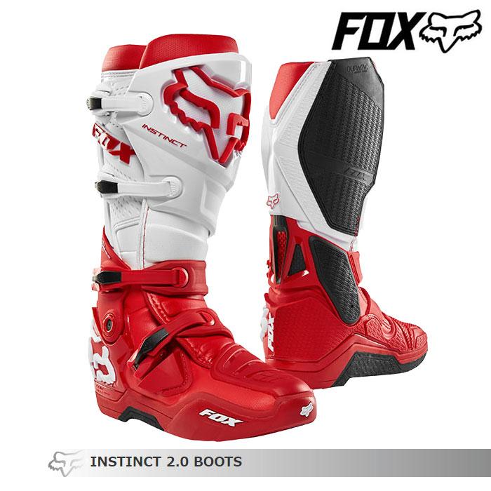 FOX RACING 〔WEB価格〕INSTINCT【インスティンクト】2.0 ブーツ    レッド