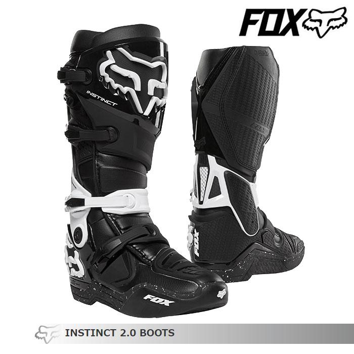 FOX RACING 〔WEB価格〕INSTINCT【インスティンクト】2.0 ブーツ    ブラック/ホワイト