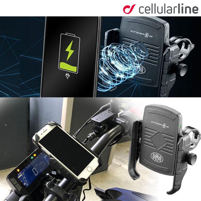 Cellular Line 【WEB価格】MOTO CRAB WIRELESS ワイヤレス充電対応スマホホルダー 8018080353123 SMMOTOWIRELESS iPhone対応