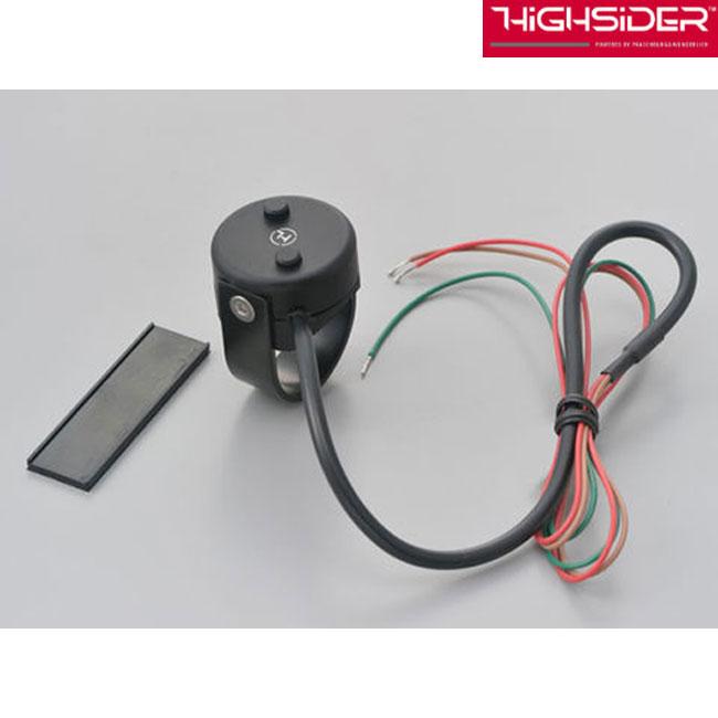 DAYTONA HIGHSIDER 2ボタンプッシュスイッチ クラシック ブラック