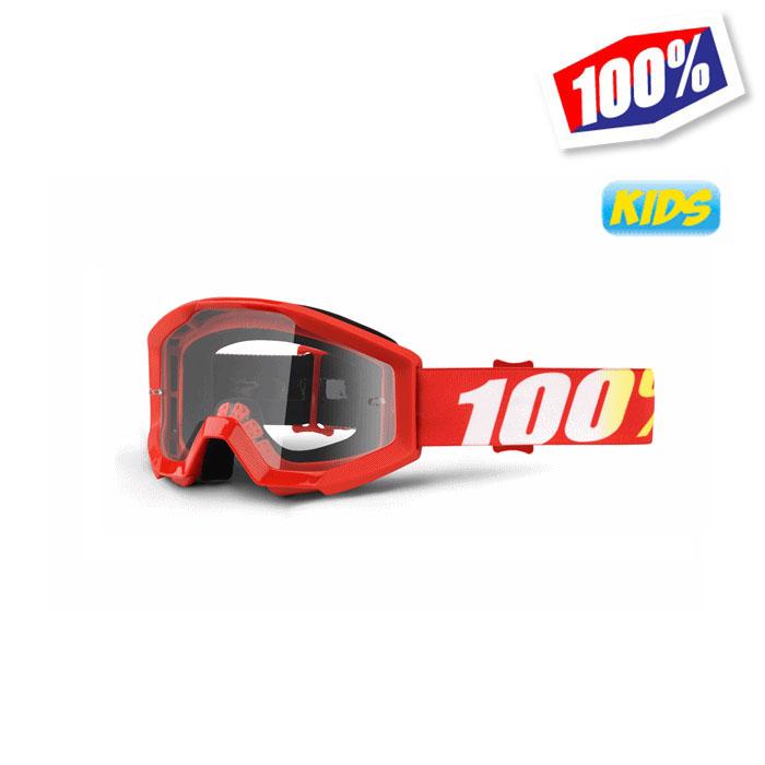 100% 〔WEB価格〕100パーセント 【キッズ】 STRATAゴーグル FURNACE レッド