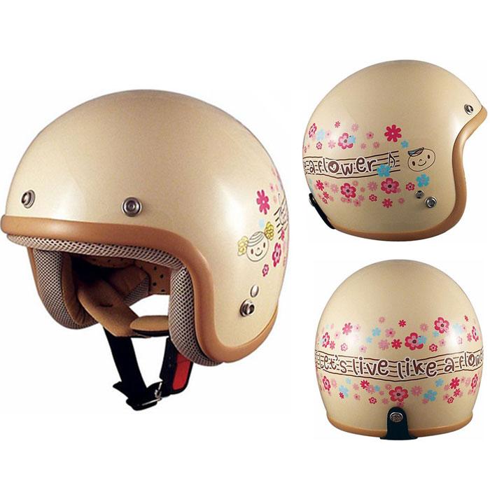 TNK工業 〔WEB価格〕【キッズ】CK-6 くっきーふらわー ジェットヘルメット