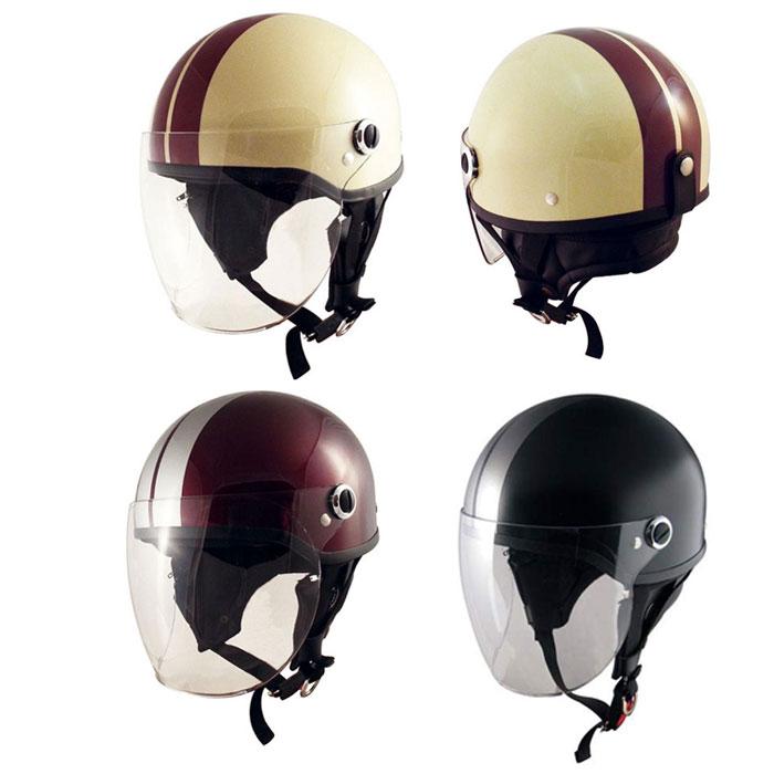 TNK工業 SQ-32 SHORTY ハーフキャップ シールド付 ヘルメット