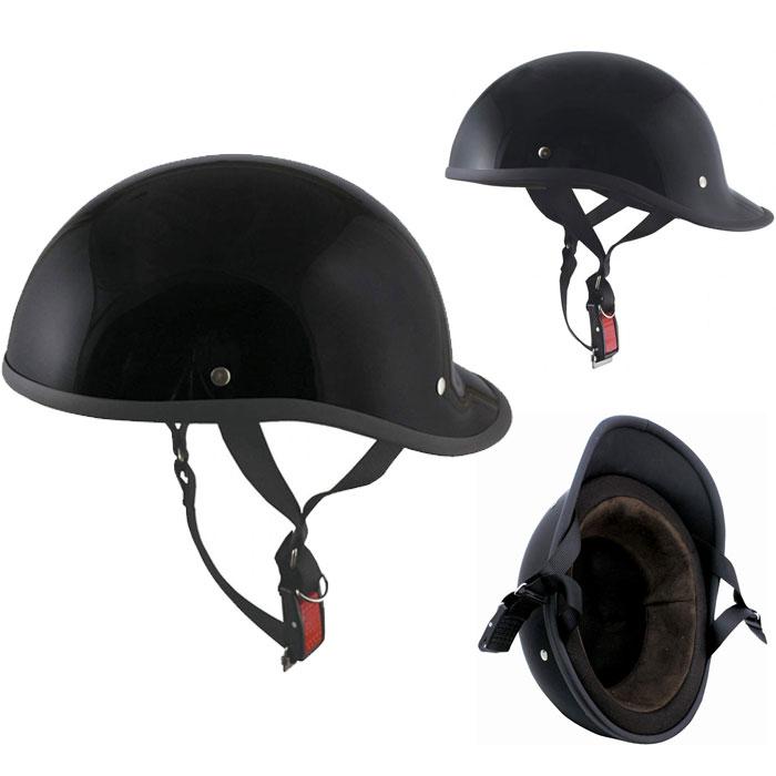 TNK工業 〔WEB価格〕 MS-27 ダックテール ハーフヘルメット ブラック
